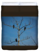 American Crows In Bare Tree Duvet Cover
