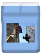 American Flag Downtown La Duvet Cover