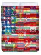 American Flags Of The World Duvet Cover