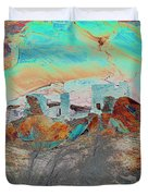 American Indian Home In Abstract Duvet Cover
