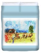 Amish Life Duvet Cover