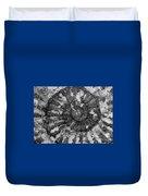 Ammonite Fossil Bw Duvet Cover