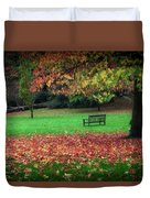An Autumn Bench At Clyne Gardens Duvet Cover