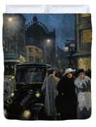 An Evening Stroll On The Boulevard Duvet Cover