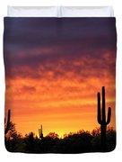An Orange Glow Fills The Desert  Duvet Cover