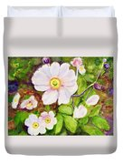 Anemones Birthday Card Duvet Cover