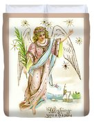Angel  Carrying A Palm Branch Duvet Cover