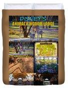 Animal Kingdom Lodge Poster A Duvet Cover