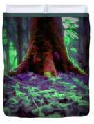Another World - Overgrown Duvet Cover by Scott Lyons