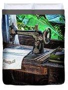 Antique Sewing Machine Duvet Cover