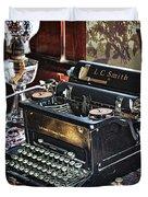 Antique Typewriter 2 Duvet Cover
