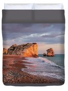 Aphrodite's Birthplace Or Petra Tou Romiou In Cyprus 2 Duvet Cover