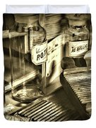 Apothecary-vintage Pill Maker Sepia Duvet Cover