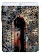 Appia Antica Porta Duvet Cover