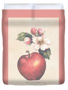 Apple And Blossoms Duvet Cover