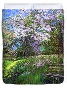 Apple Blossom Trees Duvet Cover