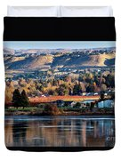 Apple Country Along The Columbia River Duvet Cover