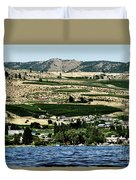 Apple Farming On The Hills Of Wenatchee Duvet Cover