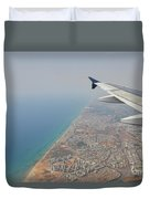 approach to Ben Gurion Airport, Israel w4 Duvet Cover