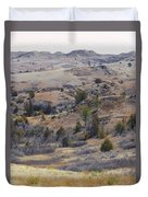 April Badlands Near Amidon Duvet Cover