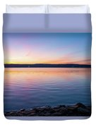 April Dawn On The Hudson River I Duvet Cover