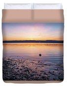 April Dawn On The Hudson River II Duvet Cover