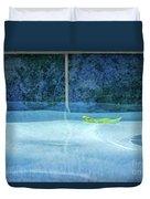 Aqua Agua And Leaf Duvet Cover