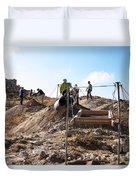 Arabic Ruins At Tall Hasban Duvet Cover