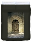 arched door at Fontevraud church Duvet Cover