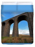 Arches And Piers Of The Ribblehead Viaduct North Yorkshire Duvet Cover