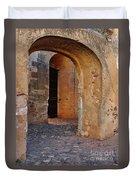 Arches Of A Medieval Castle Entrance In Algarve Duvet Cover