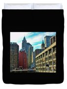 Architecture Nyc From Brooklyn Bridge  Duvet Cover