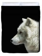 Arctic Wolf In Profile Duvet Cover by Susan Rissi Tregoning