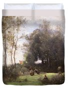 Arleux-palluel The Bridge Of Trysts Duvet Cover