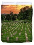 Arlington National Cemetery Sunrise Duvet Cover