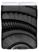 Arlington Stairs Layers Grayscale Duvet Cover