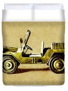 Army Jeep Duvet Cover