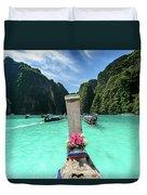 Arriving In Phi Phi Island, Thailand Duvet Cover