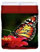 Artistic Monarch Duvet Cover