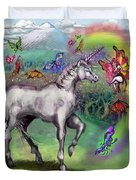 Rainbow Faeries And Unicorn Duvet Cover