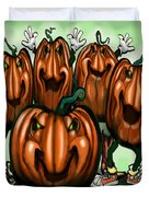 Pumpkin Party Duvet Cover