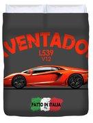 The Lamborghini Aventador Duvet Cover
