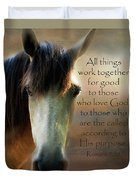 If Horses Could Talk - Verse Duvet Cover