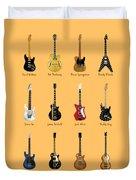 Guitar Icons No2 Duvet Cover
