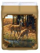 Whitetail Deer - Autumn Innocence 1 Duvet Cover