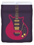 Red Special Guitar - Black Duvet Cover