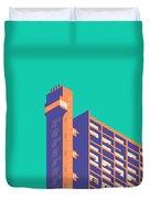 Trellick Tower London Brutalist Architecture - Plain Green Duvet Cover