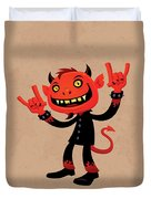 Heavy Metal Devil Duvet Cover