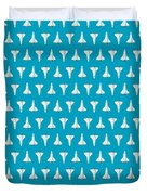 Space Shuttle Spacecraft - Cyan Duvet Cover