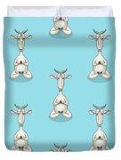Zen Goat Meditating Duvet Cover